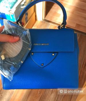 Новая сумка COCCINELLE синяя кожа