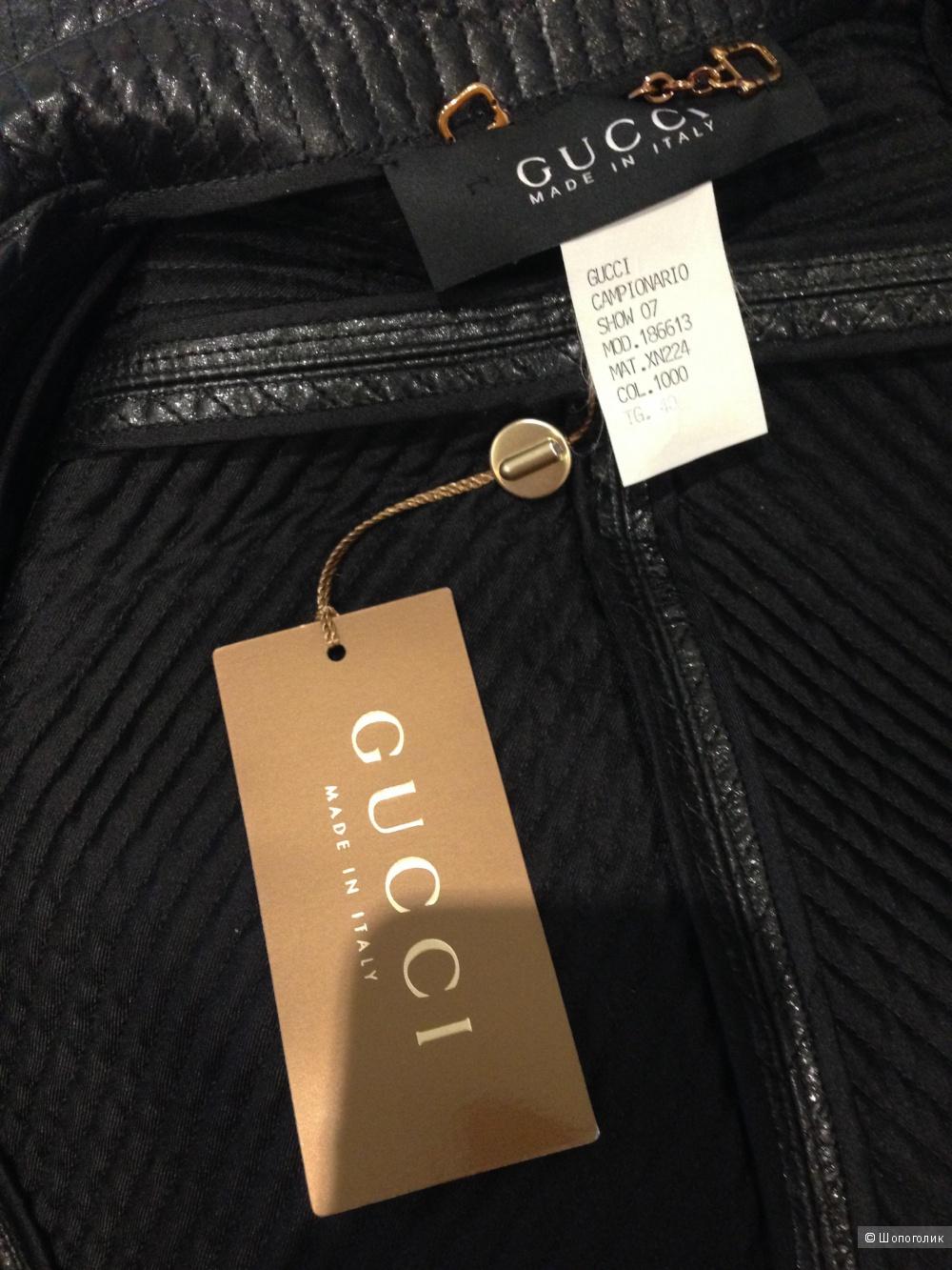 Продам кожаный жакет Gucci 40