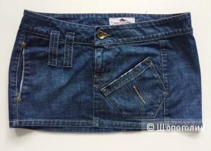 Юбка короткая джинсовая марка Fornarina размер L