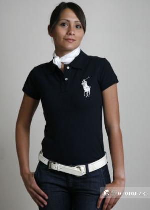 Новая тёмно-синяя рубашка поло Ralph Lauren оригинал размер S классик фит