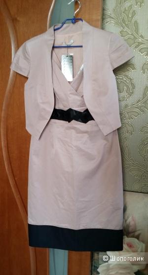 """Очаровательный, изысканный, костюм фирмы Jessica 46 размера, цвета """"пыльной"""" розы, 70% хлопка"""