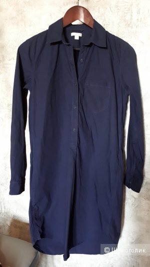 Туника-рубашка Gap из хлопка темно-синего цвета S