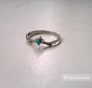 Кольцо бирюза 18-18,5