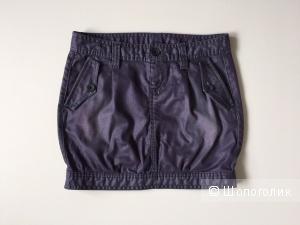 Джинсовая мини юбка тюльпан от марки Benetton размер 40-42