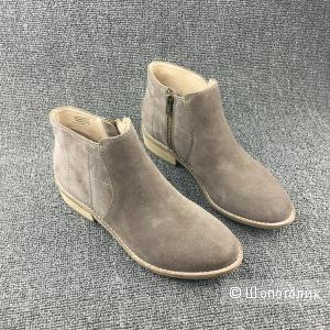 Ботинки замшевые серые новые Размер 36