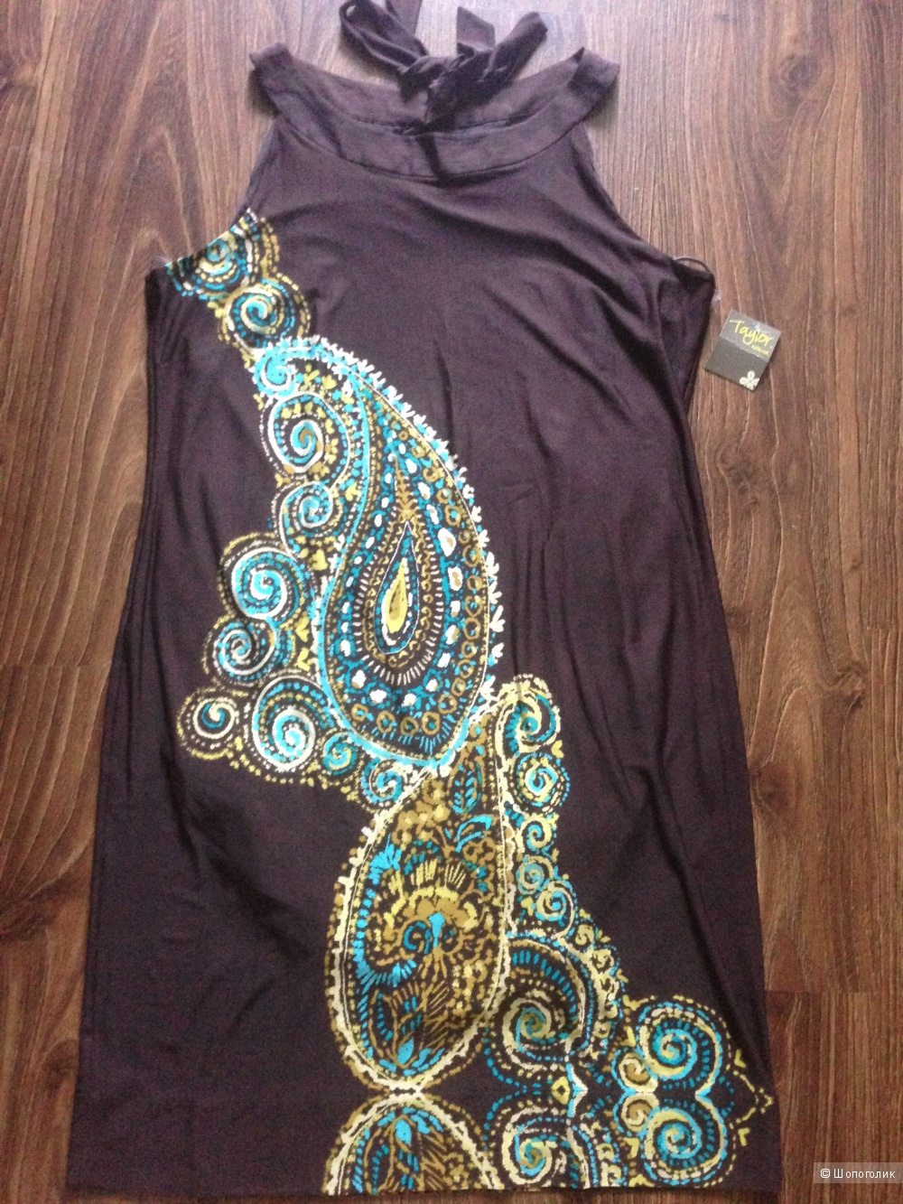Трикотажное платье от дизайнера Taylor Новое.Оригинал. р. 50-52