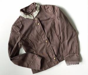 Куртка джинсовая на замке и метал.пуговицах B-ELY размер 46-48