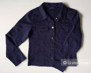 Джинсовая куртка темно -синего цвета марки BELY Jeans размер 12 (рост 152)