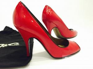 DOLCE&GABBANA  туфли с открытым мыском р.38