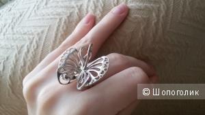 Крупное, ажурное серебряное кольцо 17-17,5 размер.