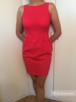 Льняное платье-футляр ASOS бу размер 40-42, UK 8