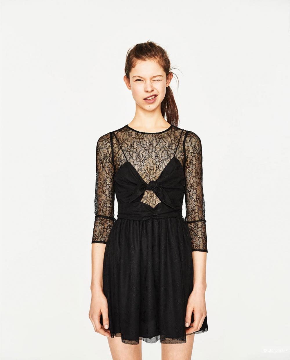 Новое кружевное платье Zara р-р S 0bd61b0c53bd8