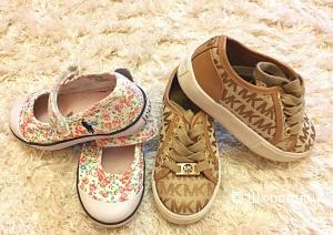 Кроссовки Michael Kors и спортивные туфельки Ralf Lauren на девочку. Размер 24, американский 8