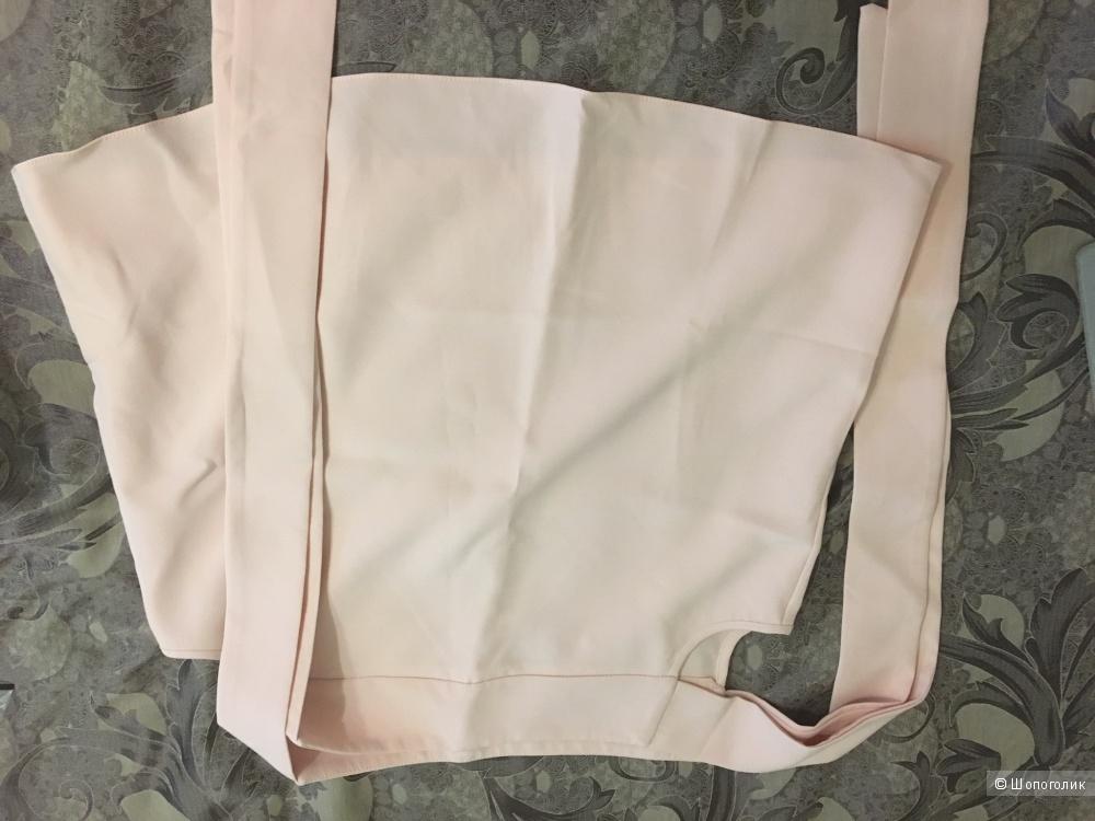 Топ из крепа с открытыми плечами на завязках Asos, eu38