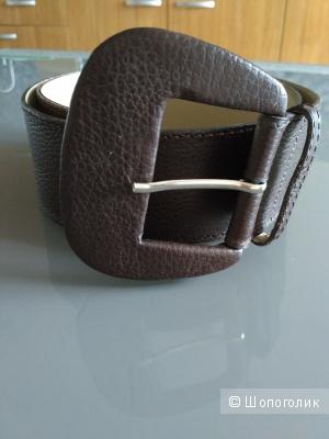 Широкий кожаный ремень 95 см
