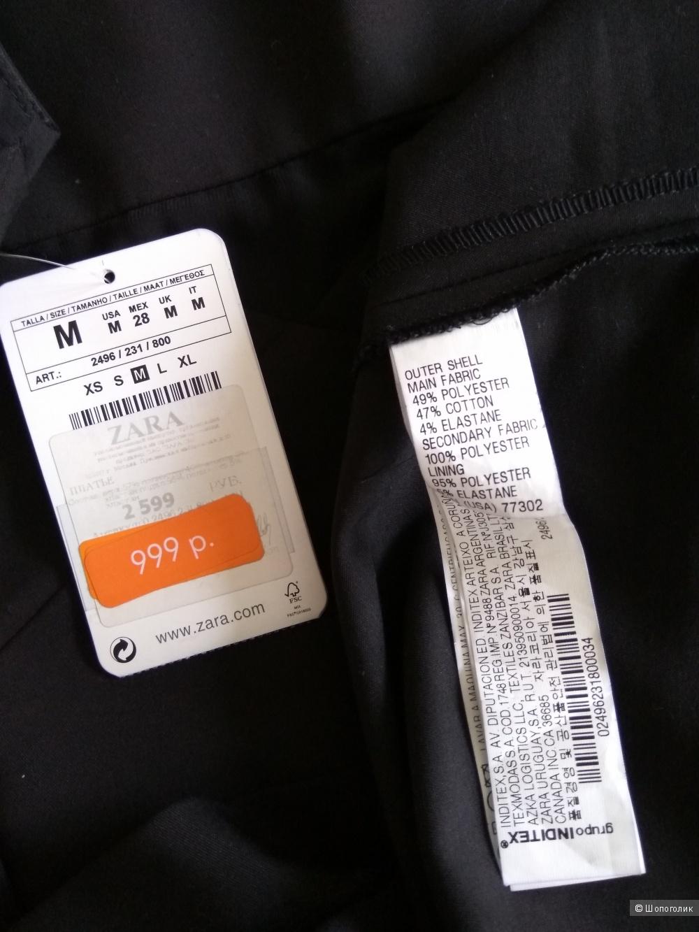 Платье ZARA черное, размер M