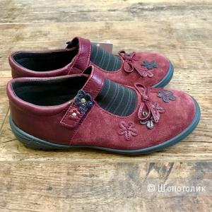Французские туфельки из натуральной кожи для девочки, DPAM (Франция), 29
