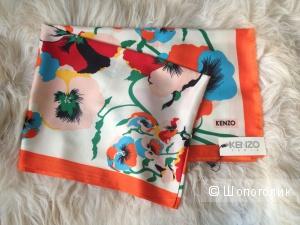 Шелковый шарф реплика Kenzo размер 170х60 см