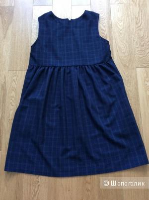 Платье-сарафан-жилет на молнии на р.46-48