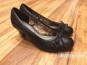 Туфли Tamaris черные, 37 размер