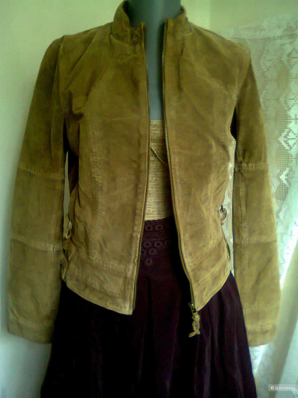 Куртка-пиджак ZARA р. S б у натуральная замша кожа, в магазине ZARA ... aac59d77e0a
