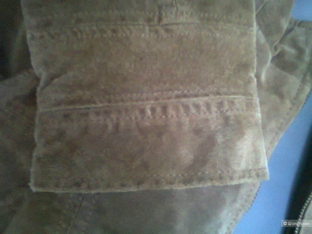 Куртка-пиджак ZARA р. S  б/у натуральная замша/кожа