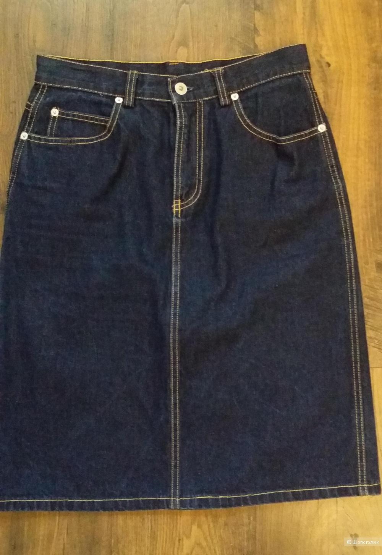 Джинсовая юбка 46 размера