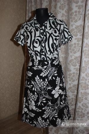 Комплект рубашка YIFAN & ALESSIA + юбка H&M, 100% хлопок, размер 44-46