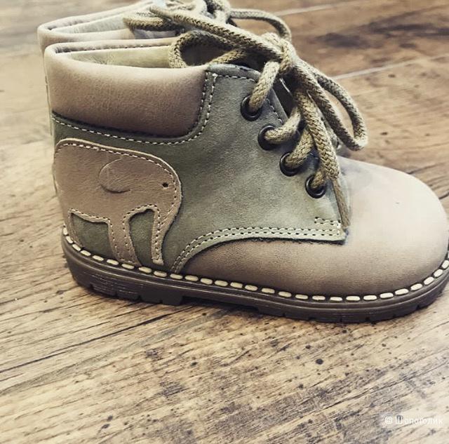 Ботиночки из натуральной кожи для самых маленьких, DPAM(Франция), 20 размер