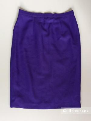 Юбка фиолетового цвета прямой силуэт марка Jak&Rae  размер 50-52