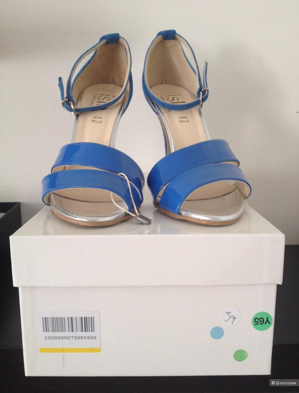 Босоножки новые кожаные Islo Isabella Lorusso размер производителя 39, стелька 26 см