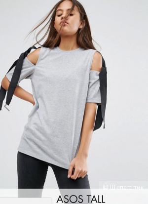 Серая футболка с завязками, ASOS, UK6