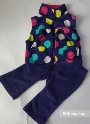 Комплект на девочку флисовый CarterS 6 месяцев