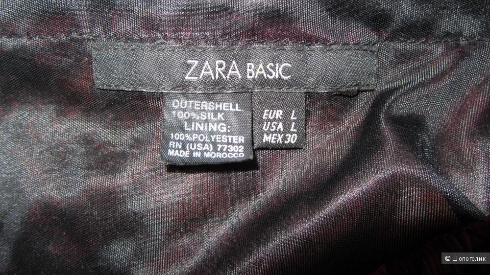 Шелковое платье Zara, размер L ( на российский 46)