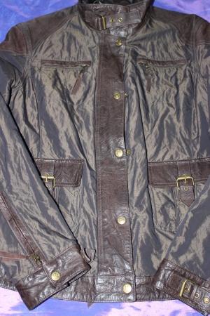 Куртка с отделкой натуральной кожей TCM, Германия, 48 размер