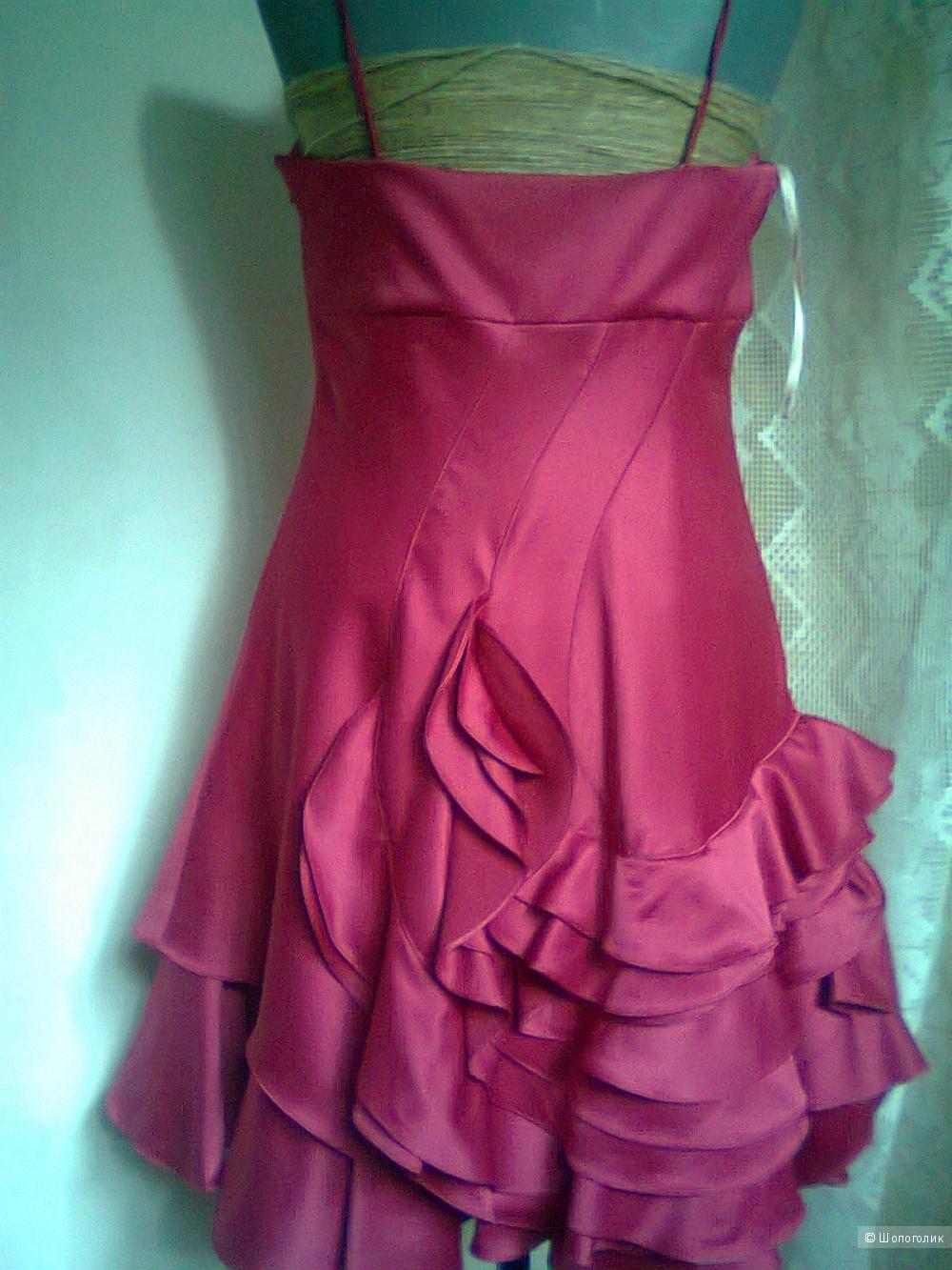 Платье Karen Millen Англия с воланом р.14 (L 46-48) новое