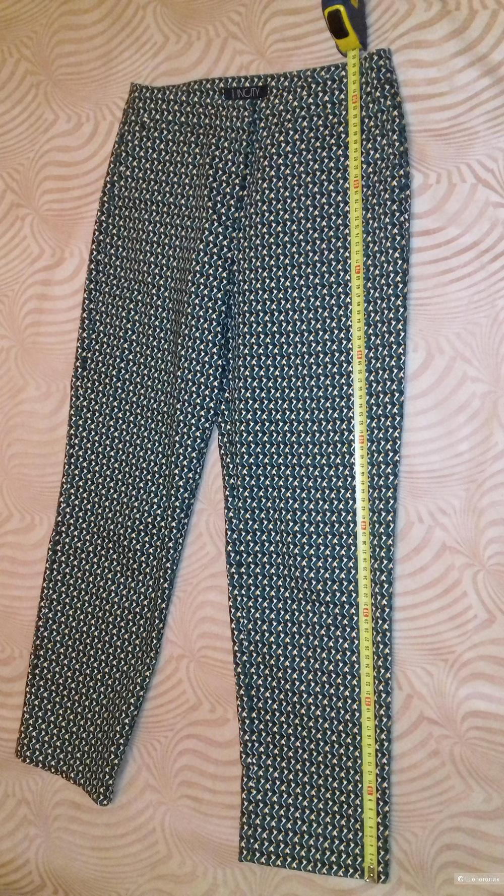 Брюки INCITY, цвет черный, зеленый, размер 44
