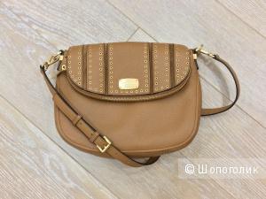 Michael Kors Tan Acorn Mini Grommets Shoulder Bag Satchel среднего размера (33*24*8)