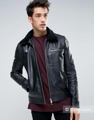 Новая Кожаная куртка Barneys, 50-52 Рост 185