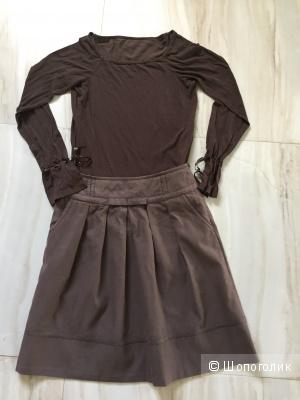 Комплект из юбки и кофты, размер XS