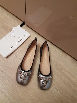 Серебряные балетки Marc Jacobs с заклепками, 1ая линия бренда, размер 37.5-38