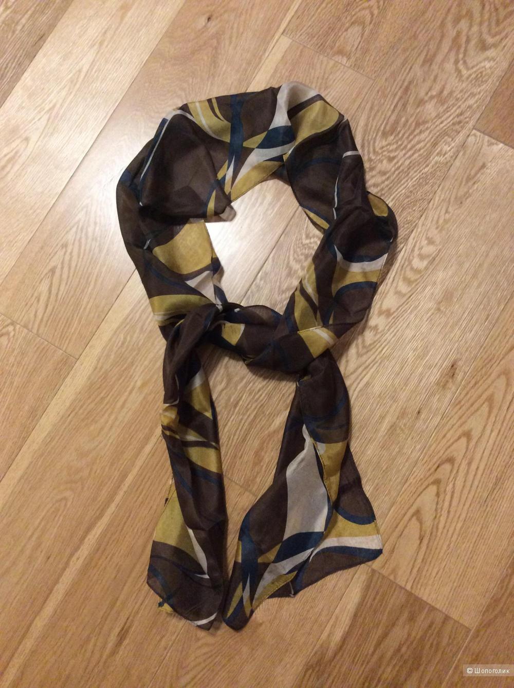Узкий шифоновый шарфик 21*180 см в осенних цветах
