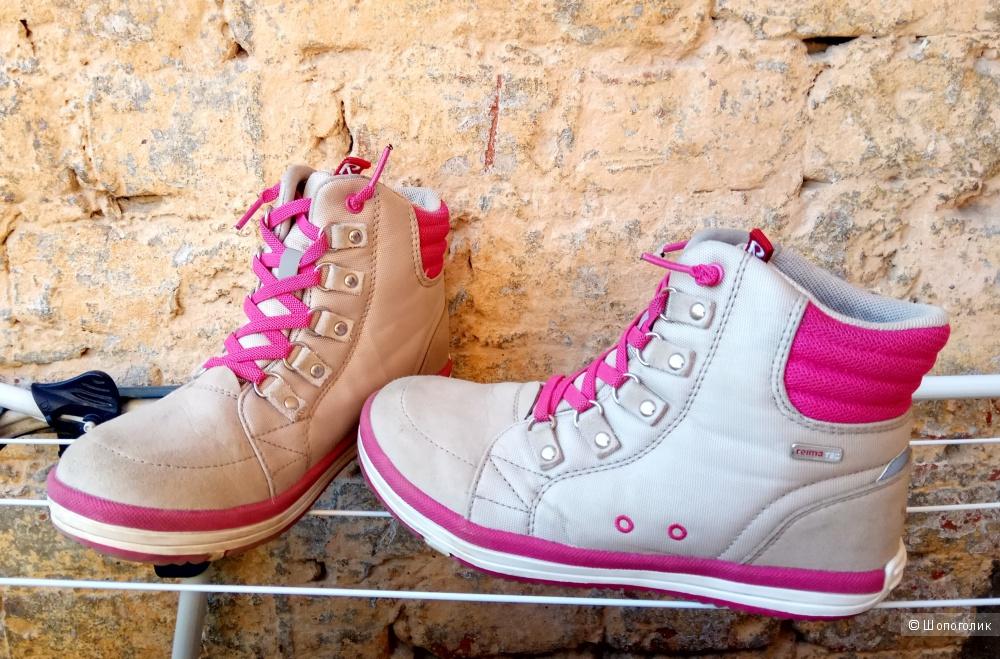 Ботинки Reima,для девочки,34 размер,кожа,нано-материал