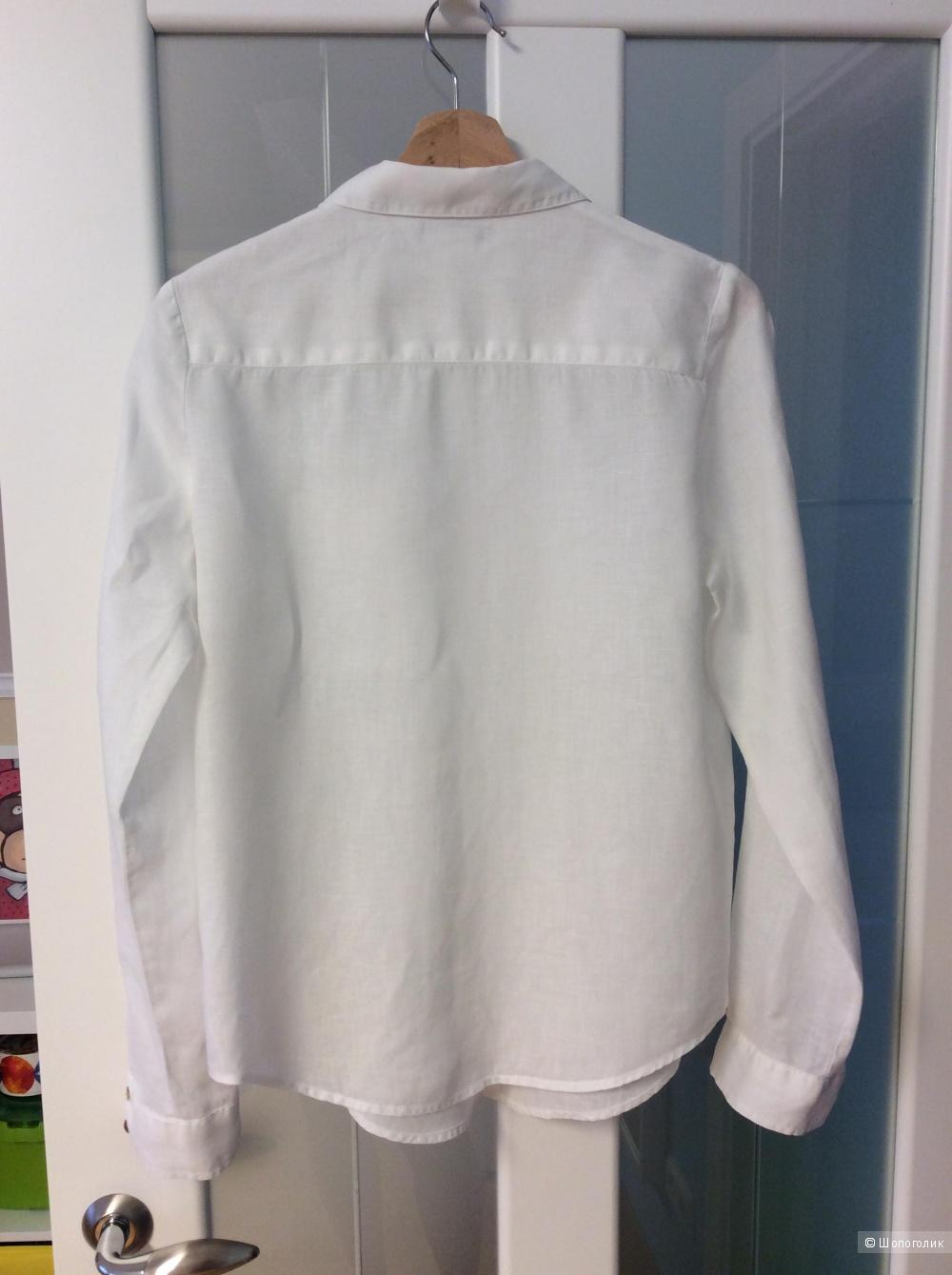 Льняная белая рубашка R essentiel на р. 46