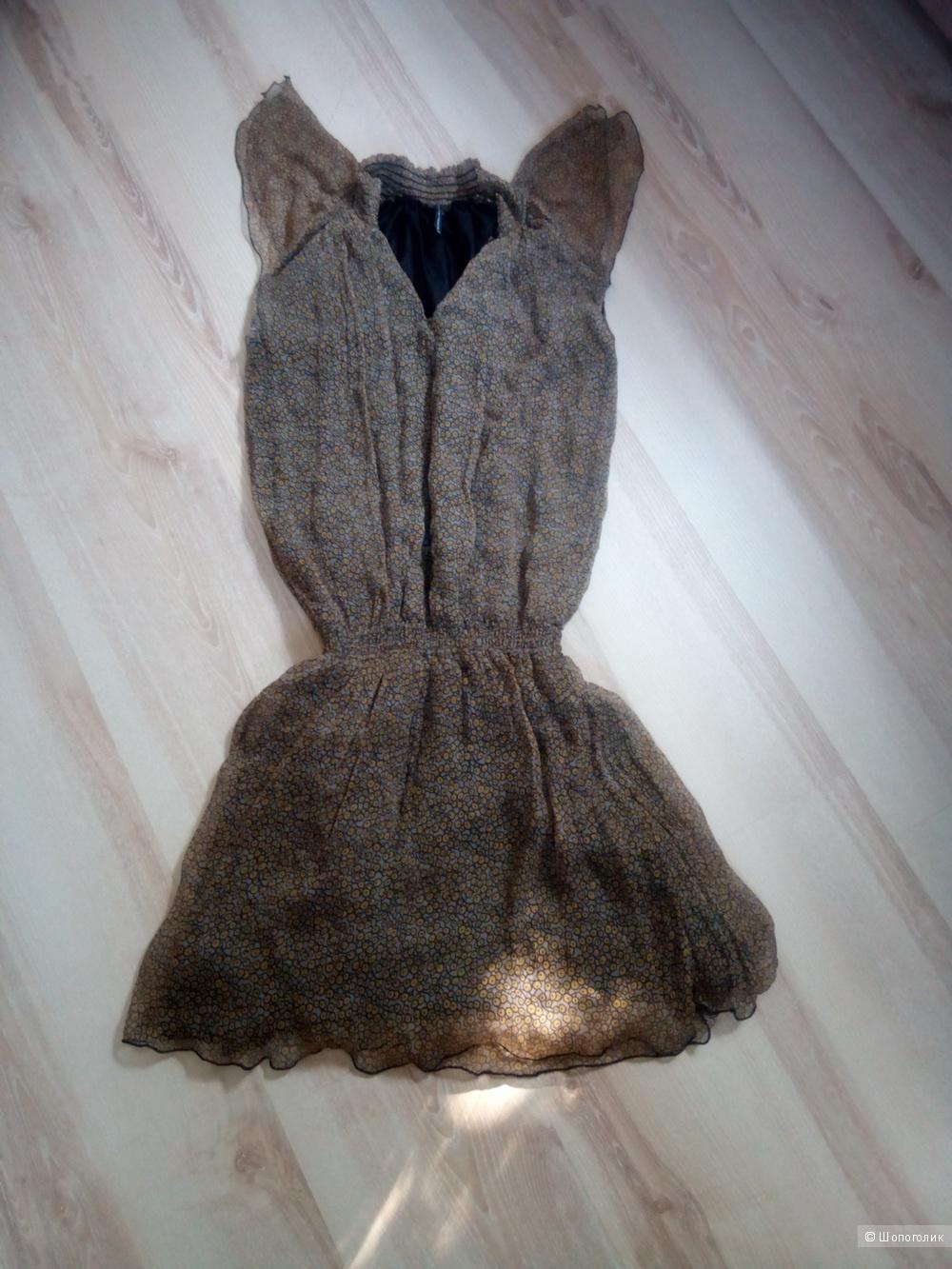 Платье-туника Naf Naf 42-44 размер 100% шёлк