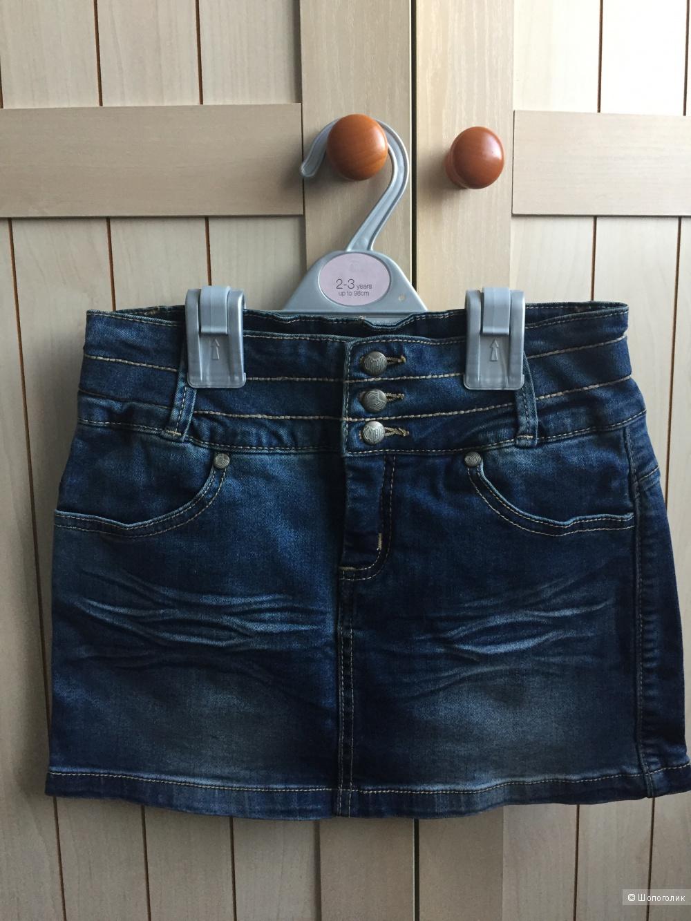 Джинсоваю юбка ф.POMPdeLUX 140 размер