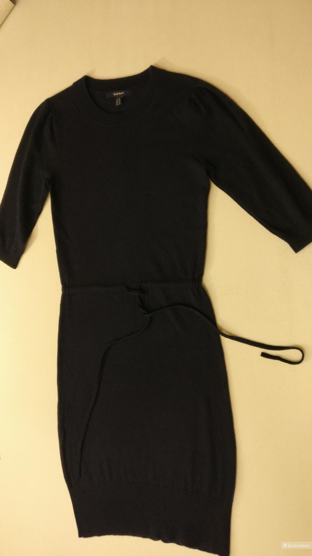 Синее шерстянное платье Gant xs