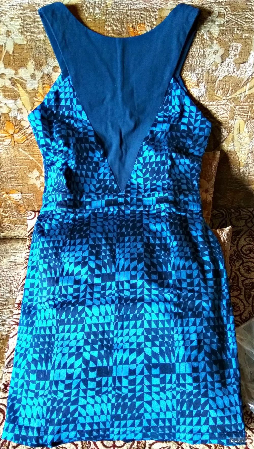 Коктейльное  платье с принтом от Kit Rubix, L