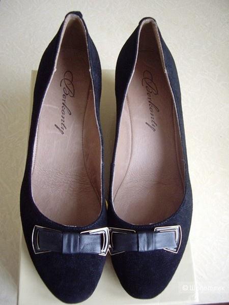 Кожаные замшевые  туфли  Berkonty, 37 российский размер