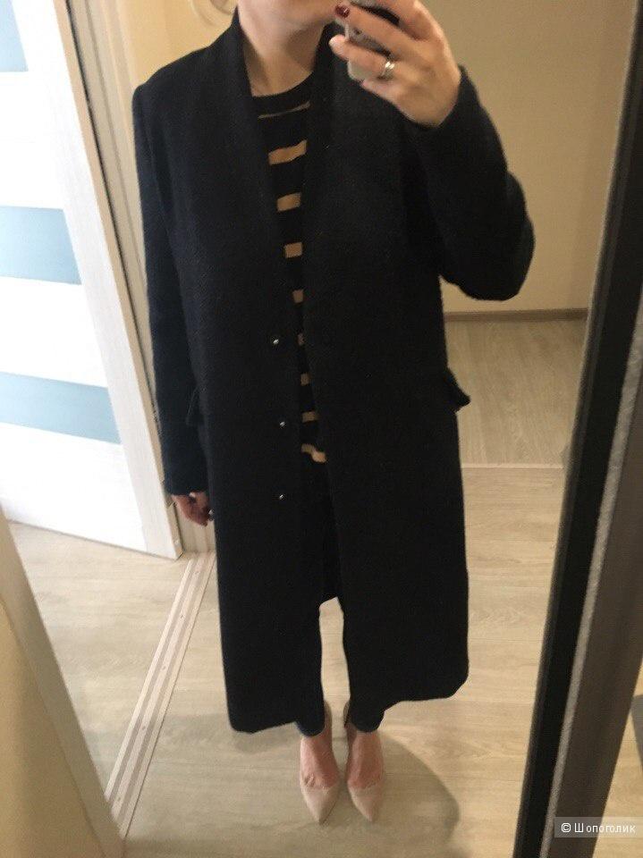 Пальто ASOS оверсайз из фактурной ткани, размер 42/44